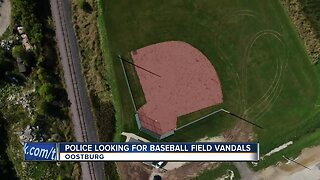 Police looking for baseball field vandals