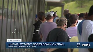 Unemployment edges down overall