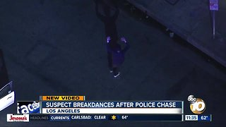 Suspect breakdances after Los Angeles police chase