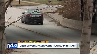 Uber driver and passengers injured in hit-skip