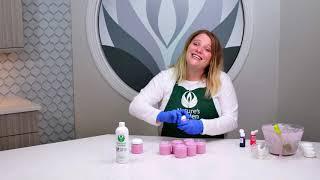 Foaming Salt Scrub Recipe using Sea Salt Orchid Fragrance Oil