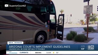 Arizona courts implement safety guidelines