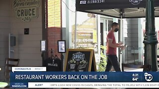 San Diego restaurant workers back on the job Friday