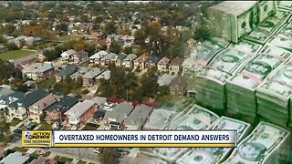 Overtaxed homeowners in Detroit demand answers