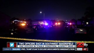 Two officers shot in Southwest Bakersfield