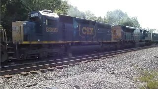 CSX Intermodal/Manifest Mixed Freight Train with new EMD ST70AH 8904 from Creston, Ohio