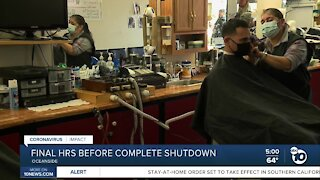 Barber shop serves customers in final hours before complete shutdown