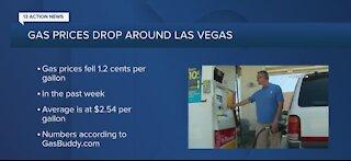 Las Vegas gas prices dropping