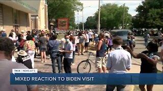 Kenosha residents react to Joe Biden visiting Kenosha