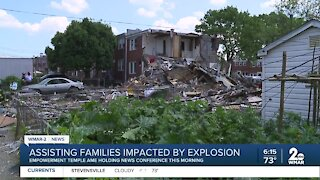 Assisting families impacted by explosion