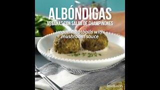 Vegan Meatballs with Mushroom Sauce