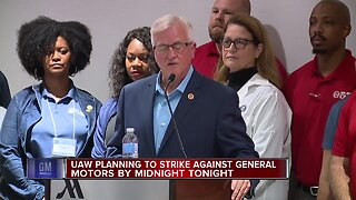 UAW planning to strike against General Motors by midnight