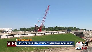 I-435 construction frustrates drivers at Three Trails Crossing