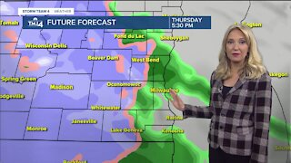 Messy rain/snow mix moves in Thursday afternoon