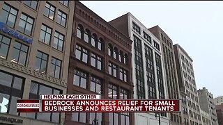 Bedrock announces relief for small businesses, restaurant tenants