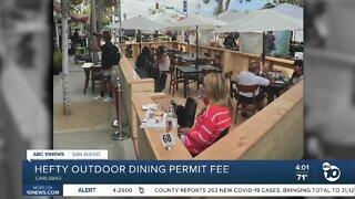 Hefty outdoor dining permit fee