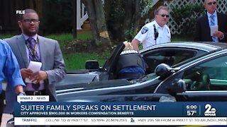 Detective Suiter's family speaks on settlement