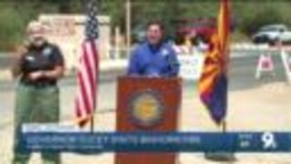 Governor Ducey visits Bighorn Fire