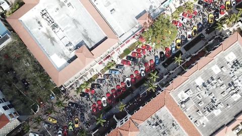Drone captures dazzling Ferrari show in Naples, Florida