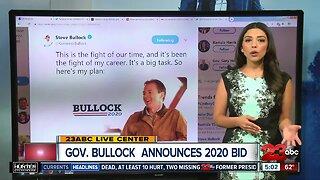 Montana Governor announces 2020 bid