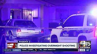 Phoenix police investigating overnight shooting
