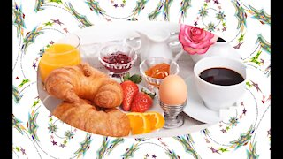 Good morning, sleep well? Look at your breakfast! [Message] [Quotes and Poems]