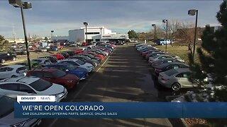 Car dealerships offering service, parts and online sales