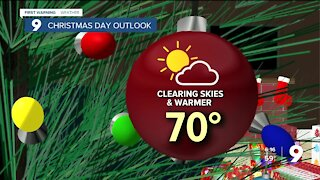 Getting warmer for Christmas and the weekend