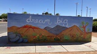 New Red Rock mural at Rafael Rivera Community Center
