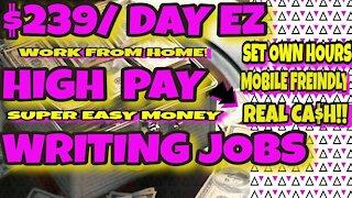 Make $239 A Day Writing Easy Reviews Blogs Surveys Easy Money