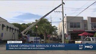 A Florida crane operator falls on high voltage electrical line
