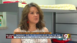 NKY shelter expands hours to serve homeless during heavy rains
