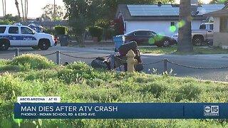 Man dies after ATV crash in Phoenix