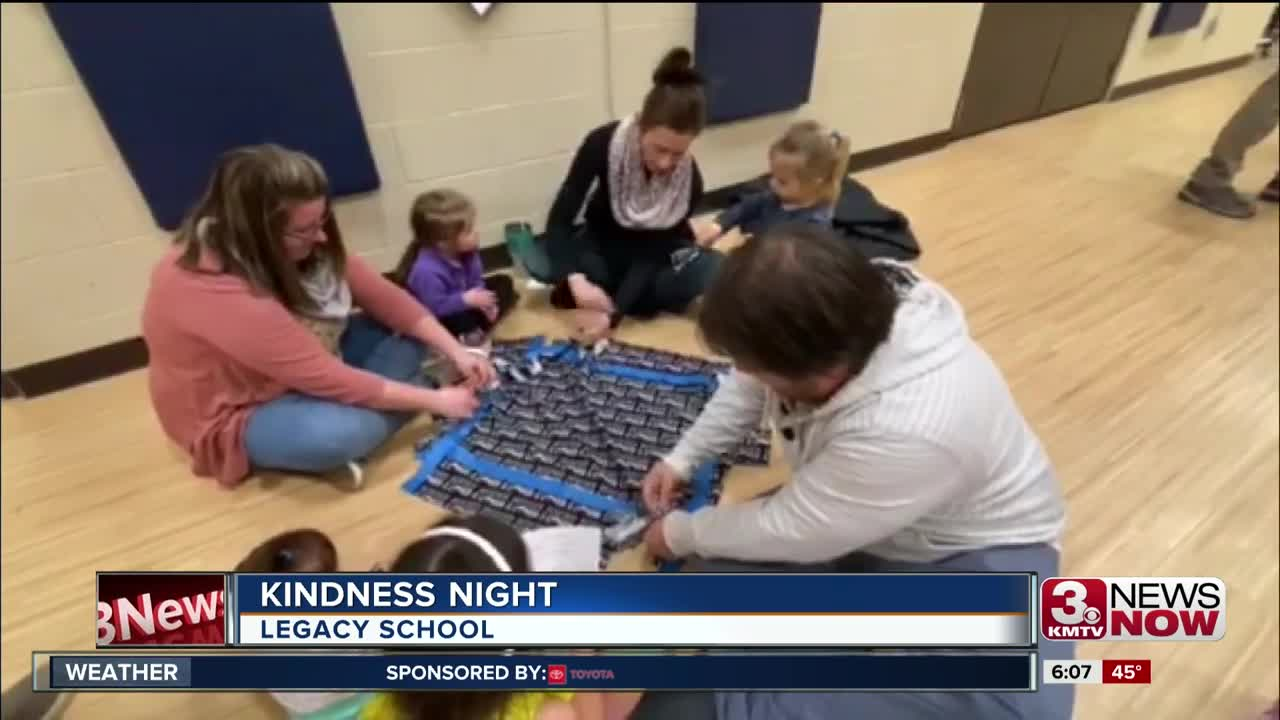 Legacy School students give back during kindness night