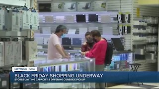 Black Friday shopping underway, stores limiting capacity