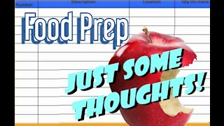Thoughts on Food Prep