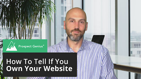 How To Tell If You Own Your Website | Prospect Genius