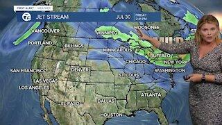 7 First Alert Forecast 11 p.m. Update, Monday, July 26
