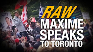 RAW: Maxime Bernier gives powerful speech at Worldwide Freedom Rally in Toronto