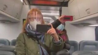 "Woman Threatens Maskless Men Drinking Coffee On Train ""I have 70,000 Twitter Followers!"""