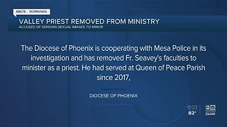 Priest removed from ministry amid investigation
