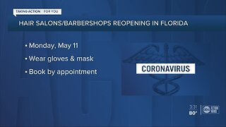 Hair salons, barber shops to reopen May 11