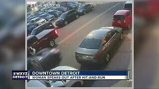 Woman driving Corvette wanted in hit-and-run in downtown Detroit