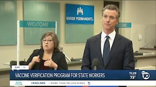 California vaccine verification program for California workers