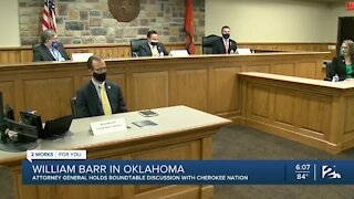 Attorney General William Bar holds roundtable discussion with Cherokee Nation