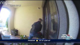 Thief violently tries to break into home