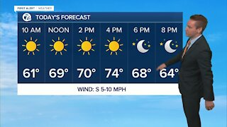 Metro Detroit forecast: Sunny with temps in the 70s continue