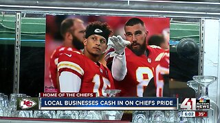 Local businesses cash in on Chiefs hype ahead of Super Bowl