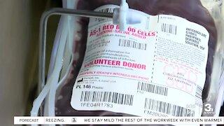 Nebraska Community Blood Bank dealing with donation shortage