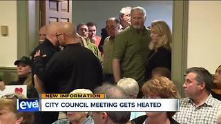 Police break things up at city council meeting